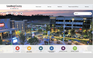 Image of New Loudoun County Website Screenshot