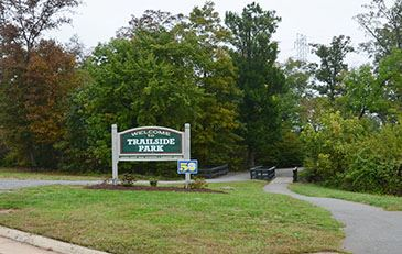 Trailside park entrance