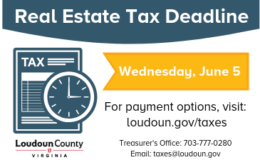 Image of Real Estate Tax Deadline is June 5 Graphic