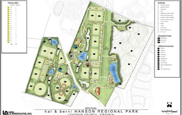 Image of rendering of design for Hal and Berni Hanson Regional Park