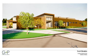 Image of rendering of Ashburn Senior Center