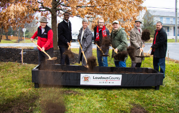 Photo of Ashburn Road Sidewalk Groundbreaking 12-13-19
