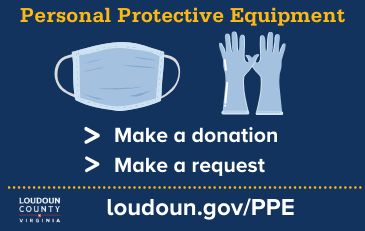 Image of graphic about personal protective equipment donations and requests