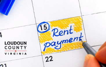 Image of calendar with rent payment date circled