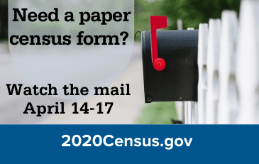 Image of census graphic with mailbox