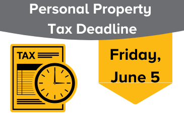 Image of Personal Property Tax June 5, 2020, Deadline Graphic