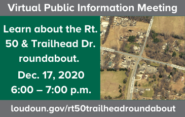 Link to information about the Route 50-Trailhead Drive Roundabout Public Meeting