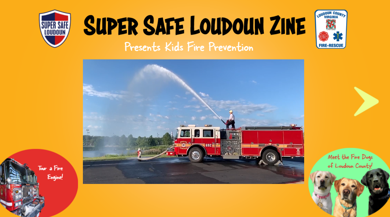Super Safe Loudoun Zine Presents Kids Fire Prevention Opens in new window