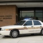 A new Sheriff's patrol vehicle outside the entrance to the new Adult Detention Center, scheduled to open in 2007