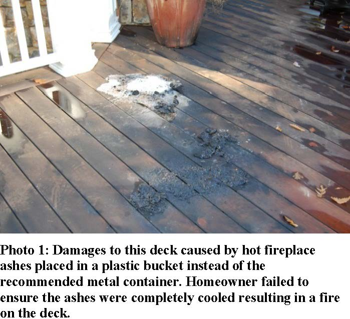 fireplace ashes cause fire