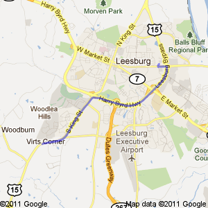 Google map directions via US-15 from the south