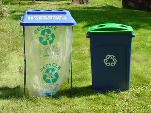 Photo of recycling bins