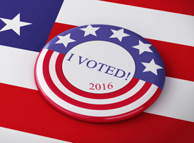 Image of an I voted button