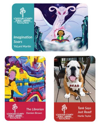 Image of winning library card designs